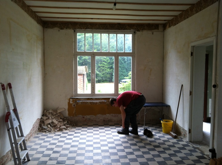 This will be my seating room, we will be replacing the window with a window from ceiling to floor.
