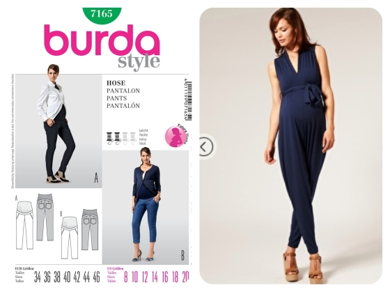Burda 7165 + Self drafted jumpsuit