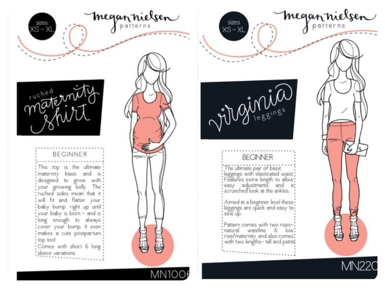 Megan Nielsen Ruched Maternity Shirt + Virginia Leggings