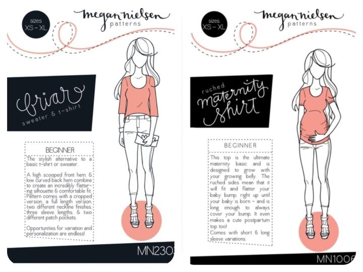 Megan Nielsen Briar + Ruched Maternity Shirt