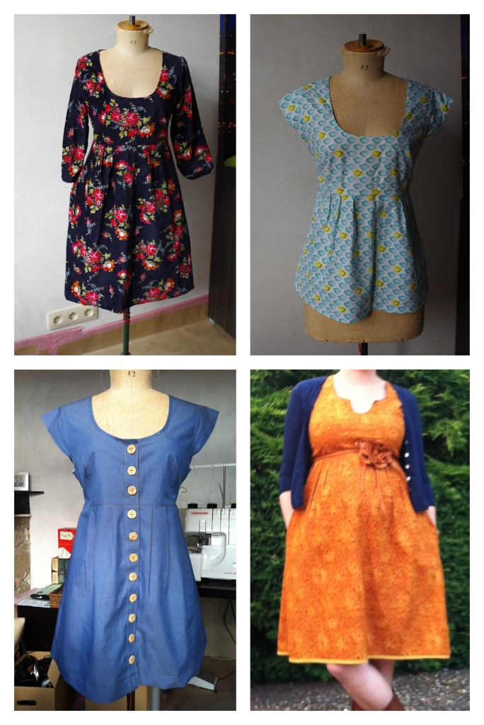 All Washi dresses (hacks) - I made the yellow one this summer and finally decided to shorten it to a tunic.