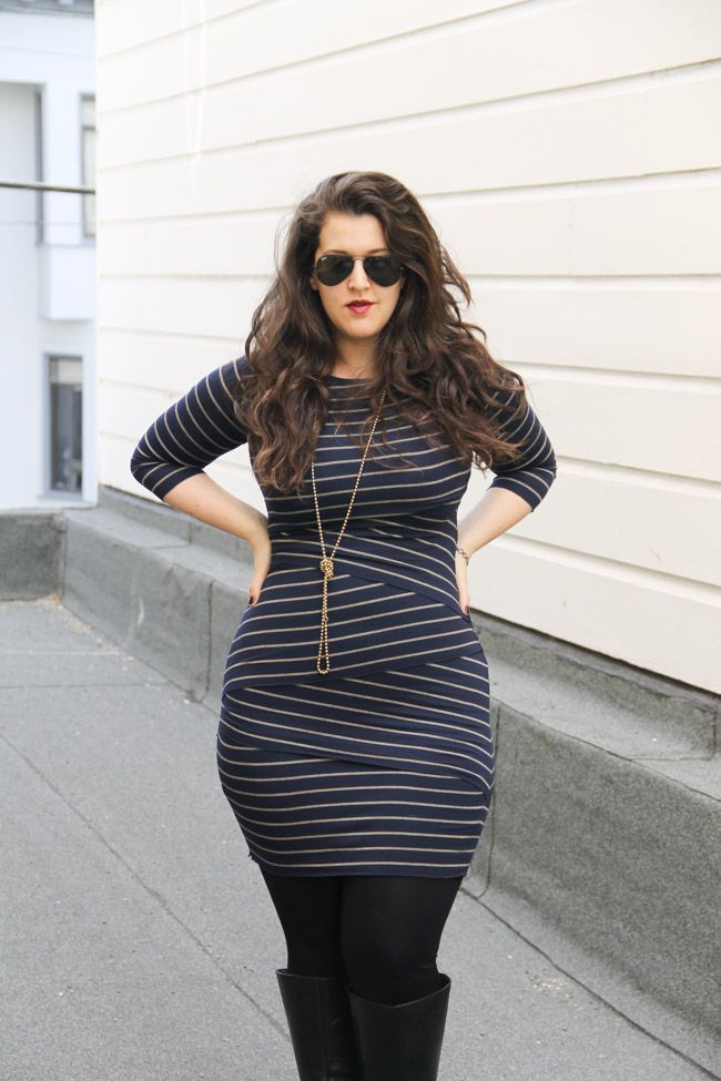 striped-plus-size-dress